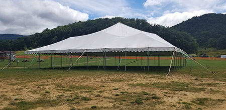 Large Wedding Tent at Camp Pioneer