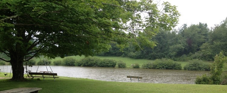 Fishing ponds at Camp Pioneer in West Virginia