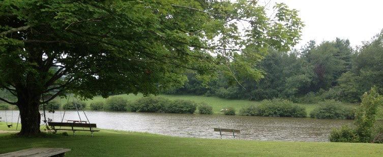 Fishing ponds at Camp Pioneer in West Virginia