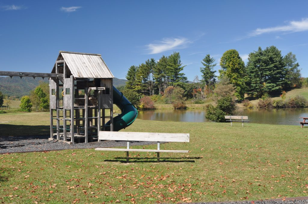 Playground at Camp Pioneer in West Virginia
