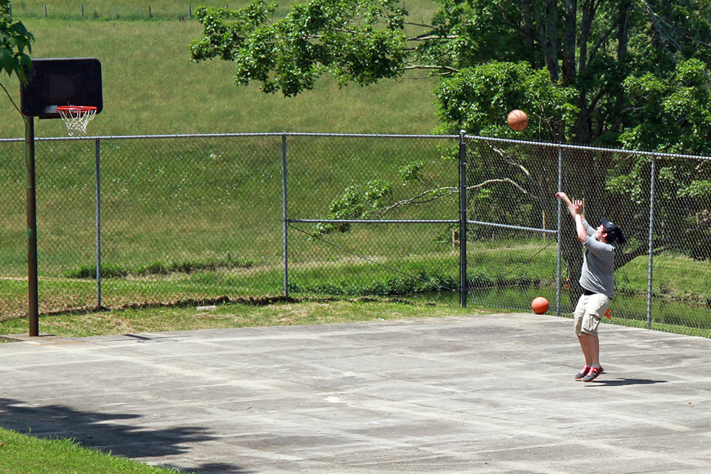 Basketball, Volleyball, and Dodgeball Court at Camp Pioneer in West Virginia
