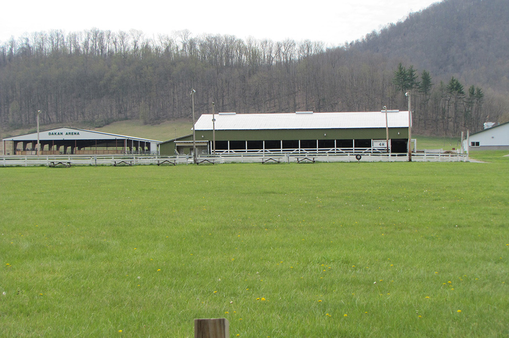 The Dakan Arena and Barn at Camp Pioneer in West Virginia