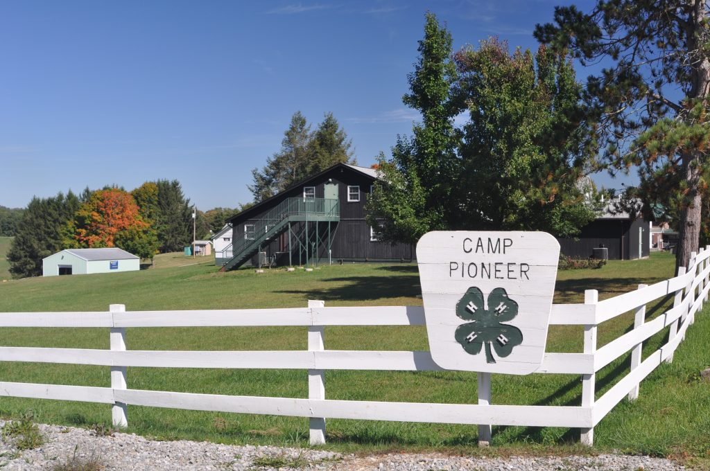 Camp grounds and dorm style lodging at Camp Pioneer in Randolph County, WV