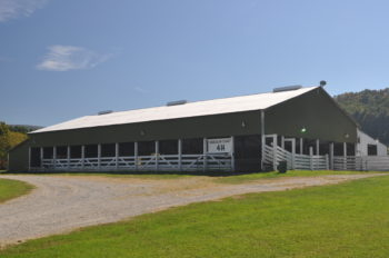 Main barn at Camp Pioneer in Randolph County, WV